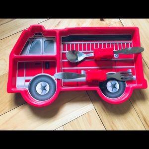 Fire Truck Eating Set
